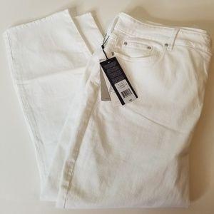 NYDJ Slimming Fray Hem Skinny Jean size 20w nwt